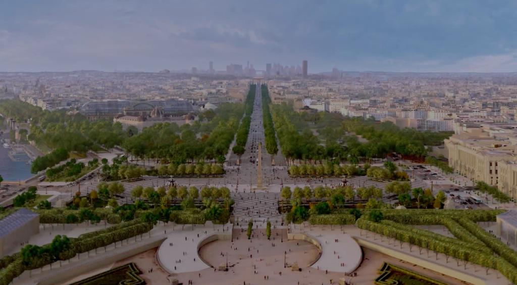Paris garden visual plan