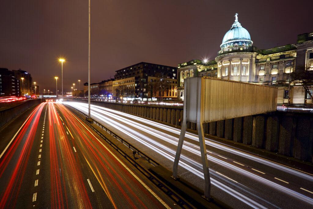 M8 cutting through Glasgow