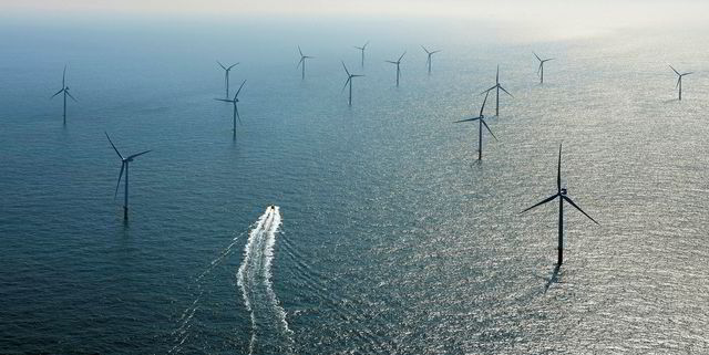 Offshore windfarm Belgian North Sea